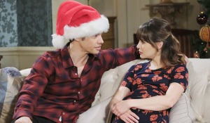 Xander with pregnant Sarah days of our lives