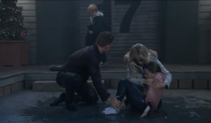 Dustin rescues Charlotte from water on General Hospital