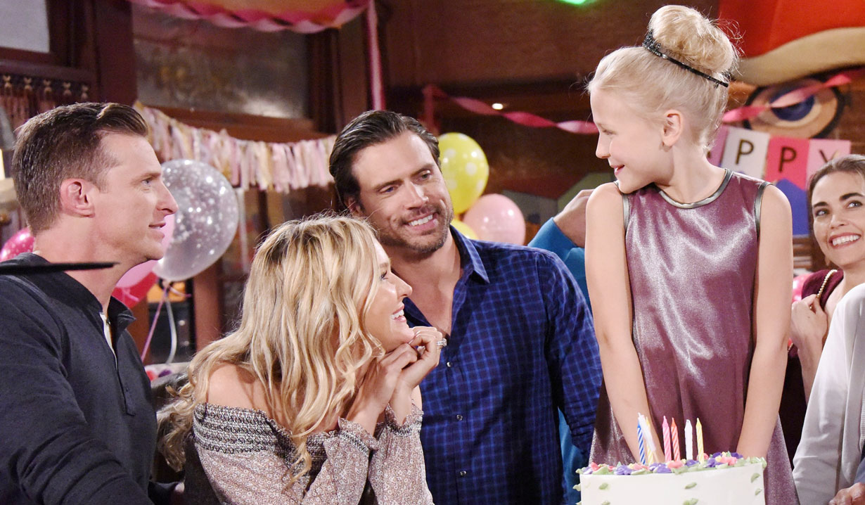 faith celebrates birthday with family young and restless