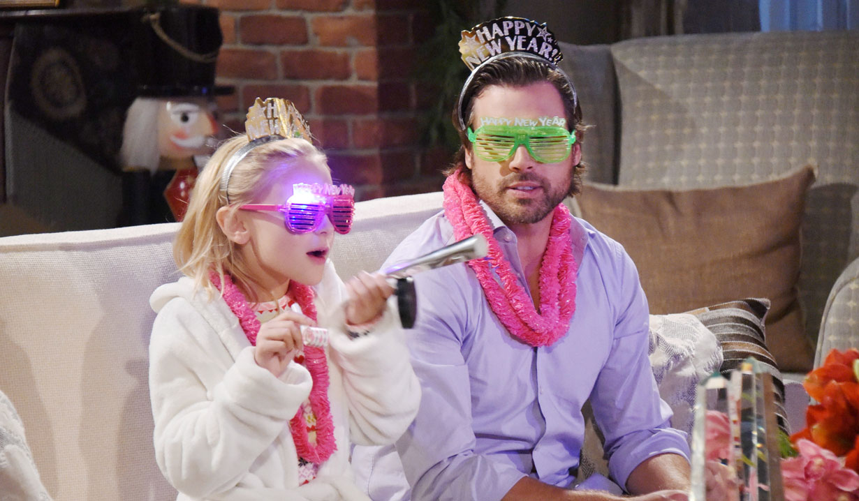 faith and nick celebrate new years young and restless