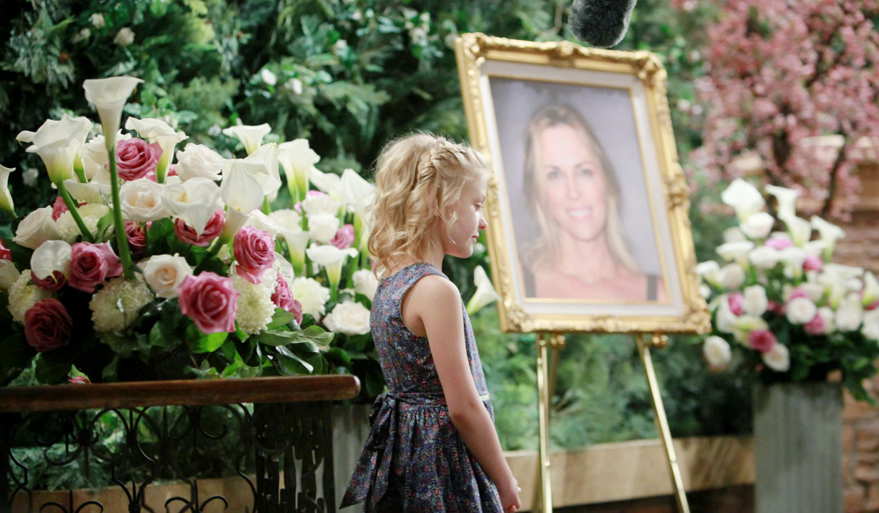 faith at sage's funeral young and restless