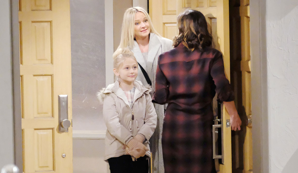 sharon and faith visit chelsea young and restless