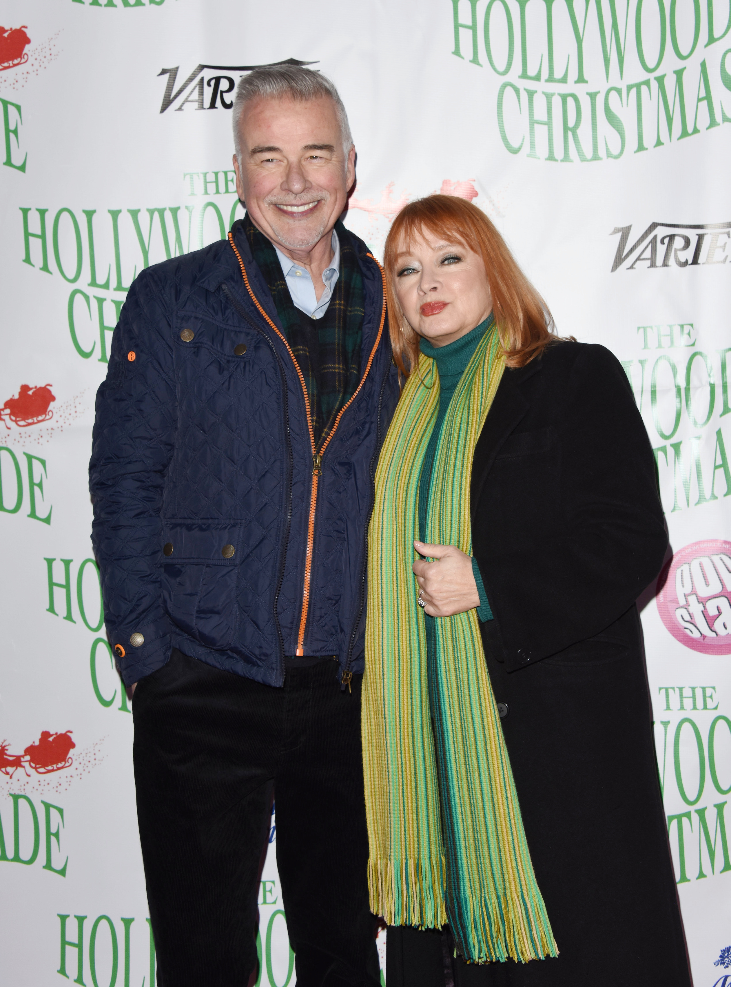 Andrea Evans, Ian Buchanan attends the 88th annual Hollywood Christmas Parade