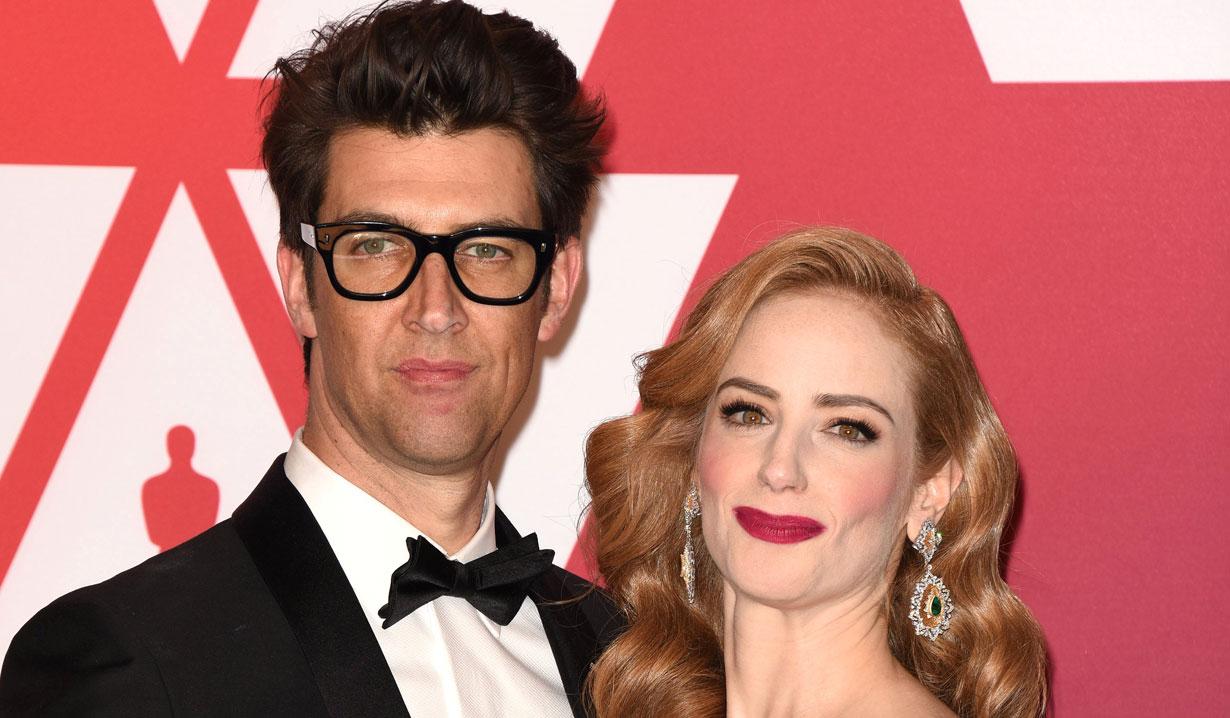 Jamie Ray Newman and husband Guy Nattiv at Oscars