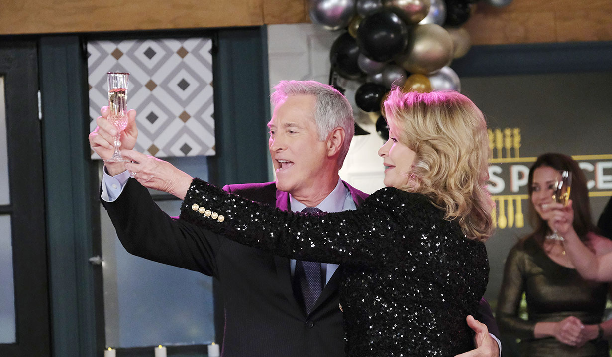 john toasting on new years eve party days of our lives