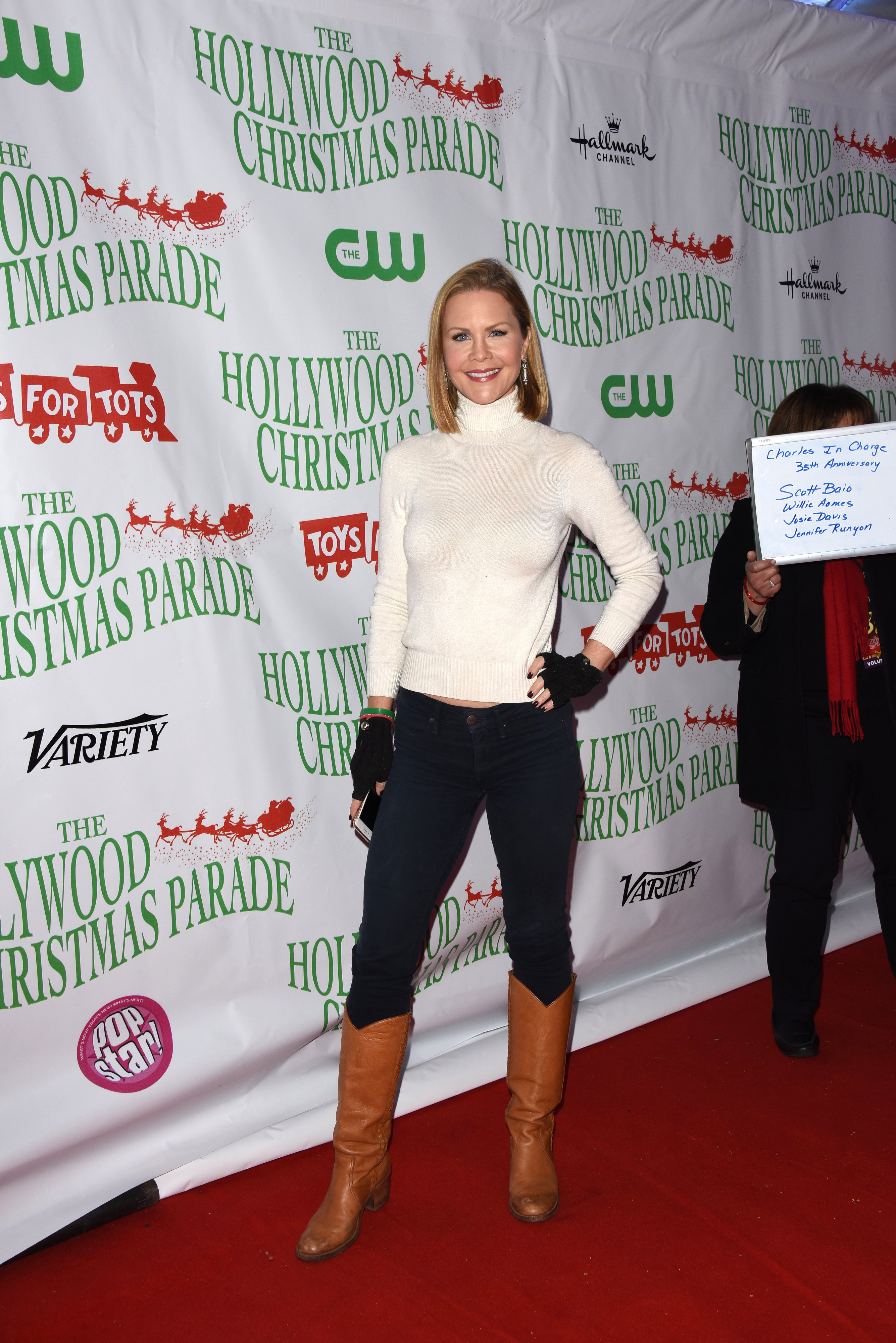 Josie Davis attends the 88th annual Hollywood Christmas Parade