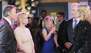 kayla, Justin, John Marlena discuss Stefano new years eve party days of our lives