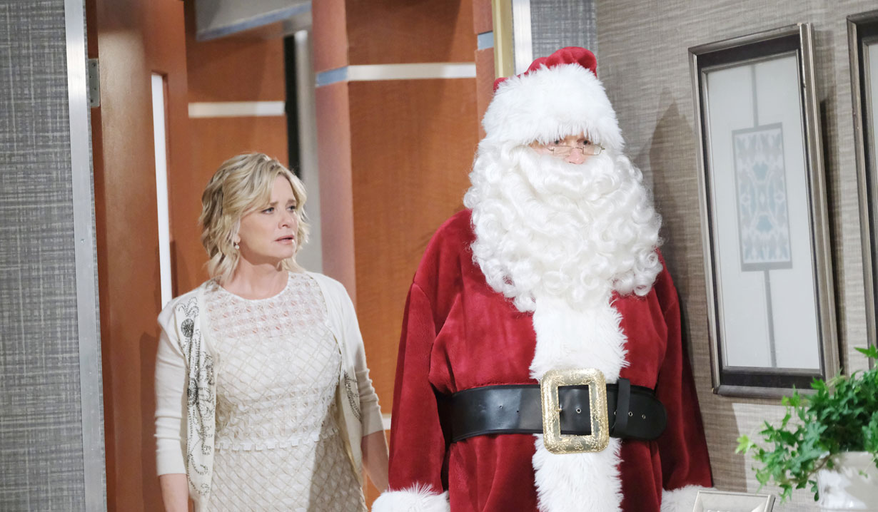 kayka follows stefano in santa suit days of our lives
