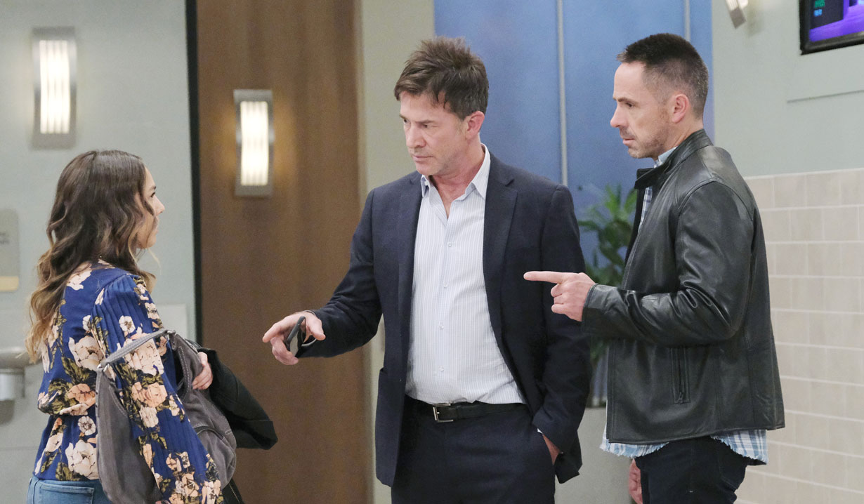 Neil and Julian worried about Alexis on General Hospital