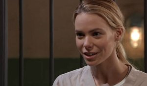 Nelle greets someone on General Hospital