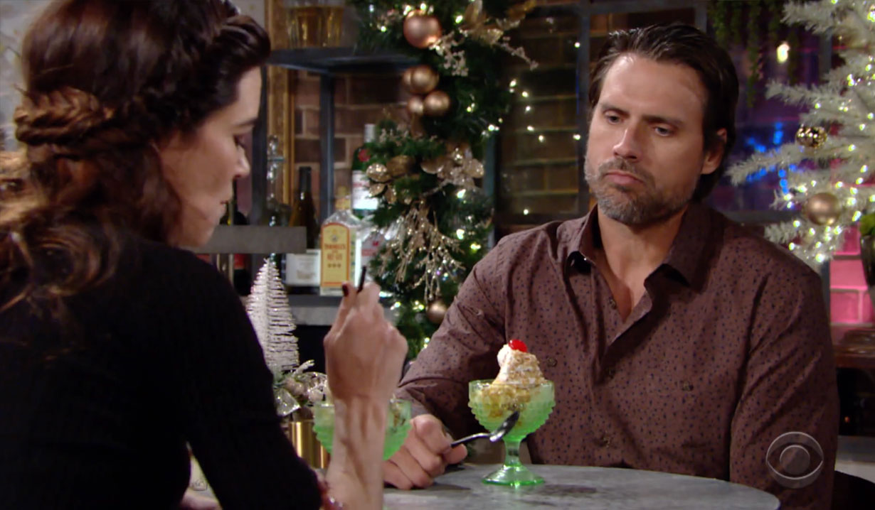 Nick and Victoria eating ice cream Young and the Restless