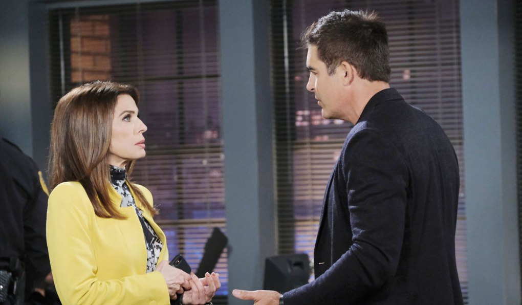 rafe questions hope as gina at salem pd days of our lives