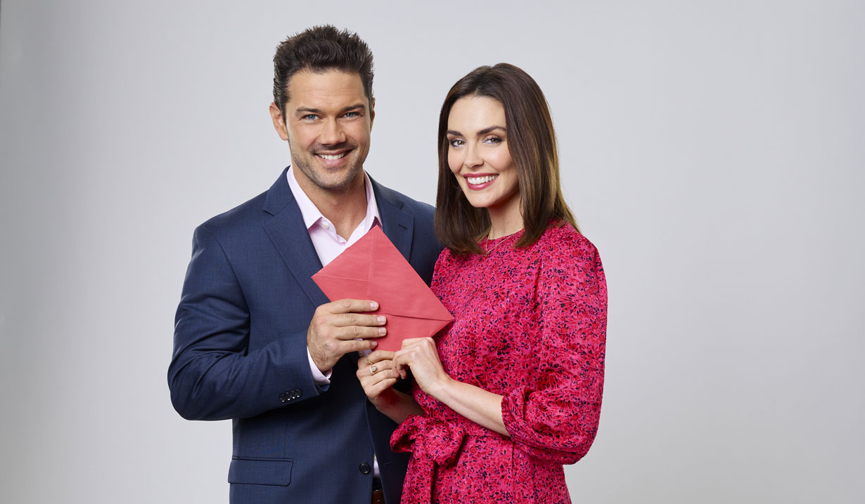 General Hospital ryan paevey and taylor cole in hallmark's matching hearts