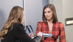 Sasha gives Willow pregnancy test on General Hospital