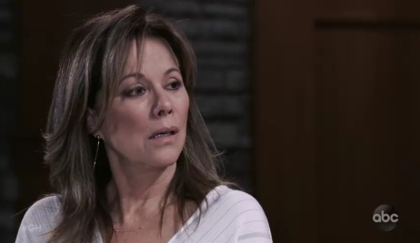 Alexis questions sam at home General Hospital