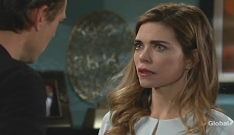 Billy and Victoria talk therapy Young and Restless