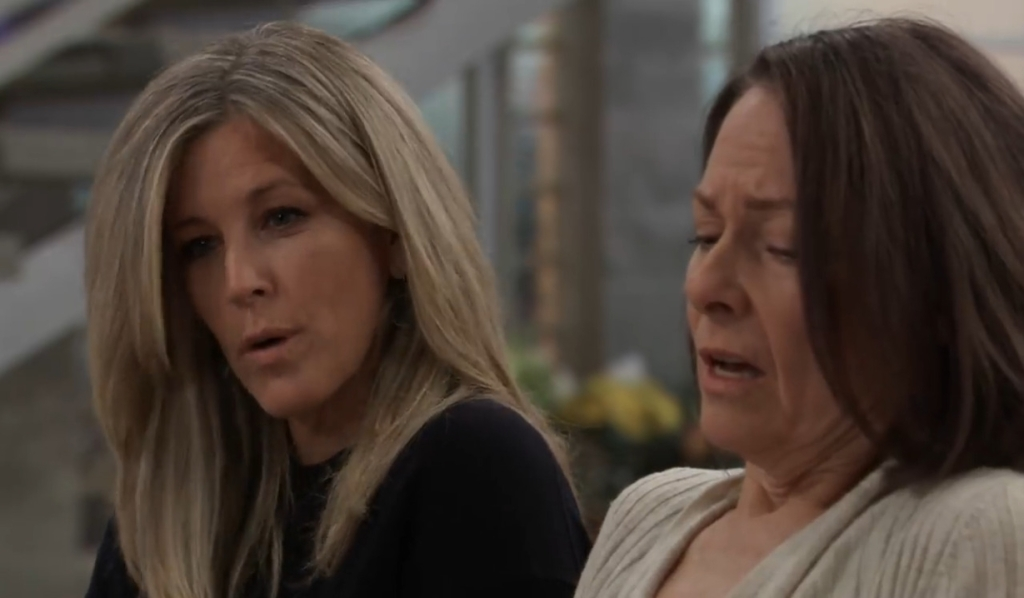Carly questions Gladys at General Hospital