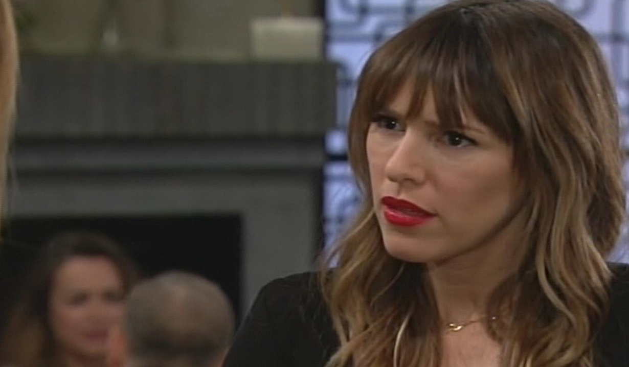 Chloe reacts to Cheslea news Young and Restless