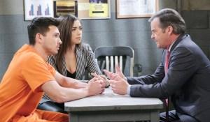 Ciara Ben Justin at jail Days of our Lives