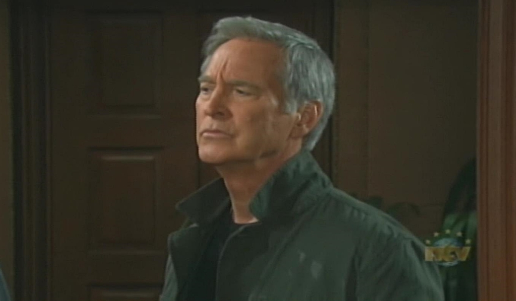 John eyebrow raised at Stevano Days of our Lives
