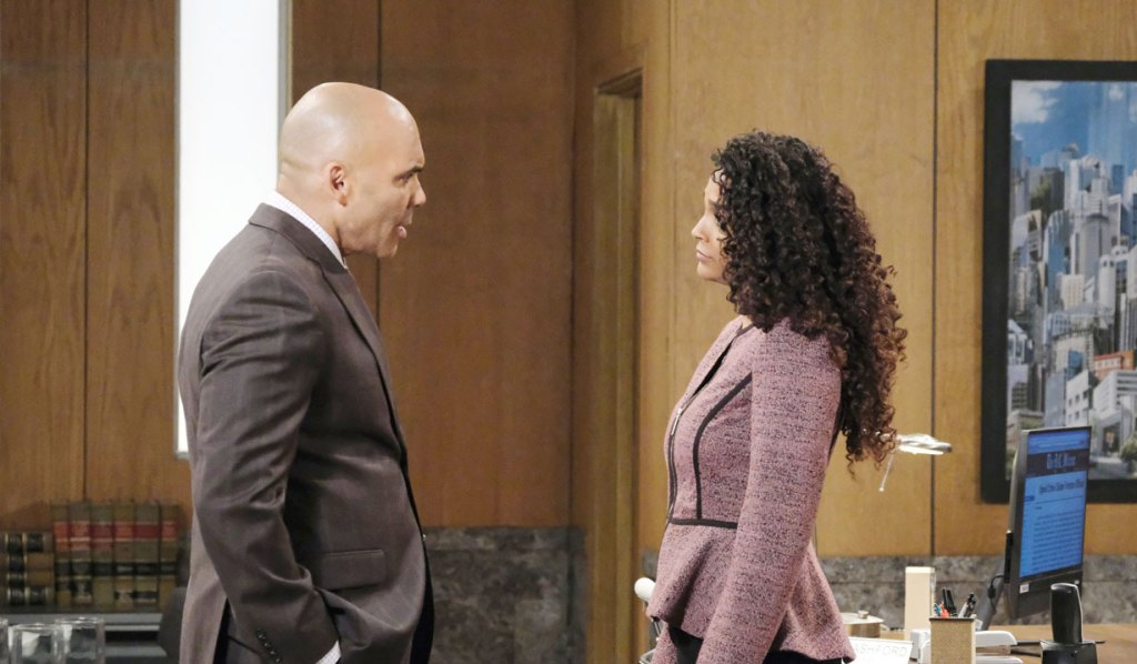 Taggert and Jordan reconnect at the PCPD on General Hospital