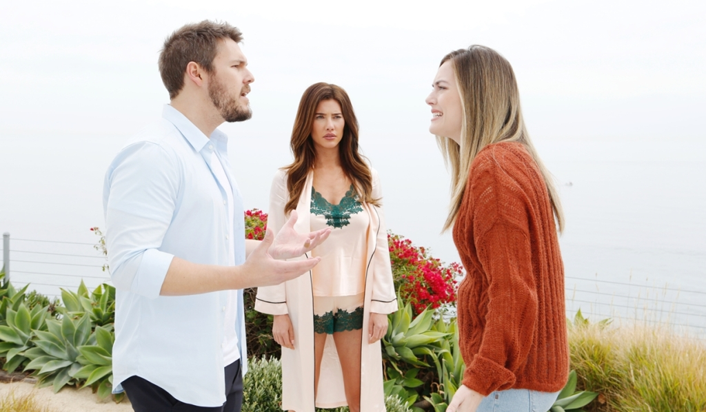 Liam, Steffy and Hope cliff argument Bold and Beautiful