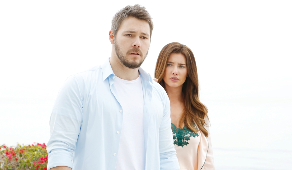 Liam and Steffy after kiss Bold and Beautiful