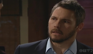 Liam glares at Thomas Bold and Beautiful