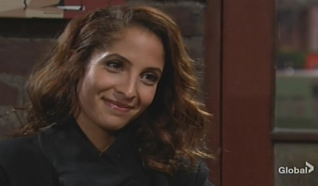 Lily smiles at Billy Young and Restless