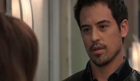 Liz grills Nikolas at hospital General Hospital