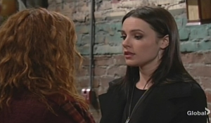Mariah gives pep talk Tessa Young and Restless