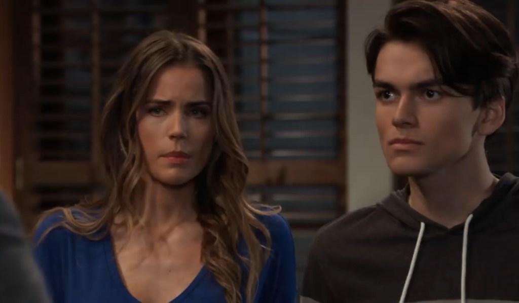 Michael and Sasha tell Dev what happened at pub General Hospital