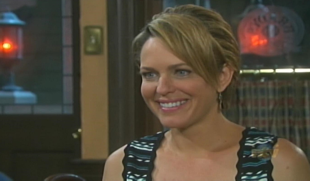 Nicole smiles at Eric Days of our Lives