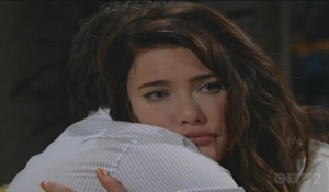 Ridge embrace Steffy Bold and Beautiful
