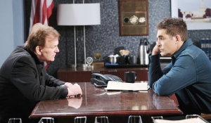 Roman and Rafe at station Days of our Lives