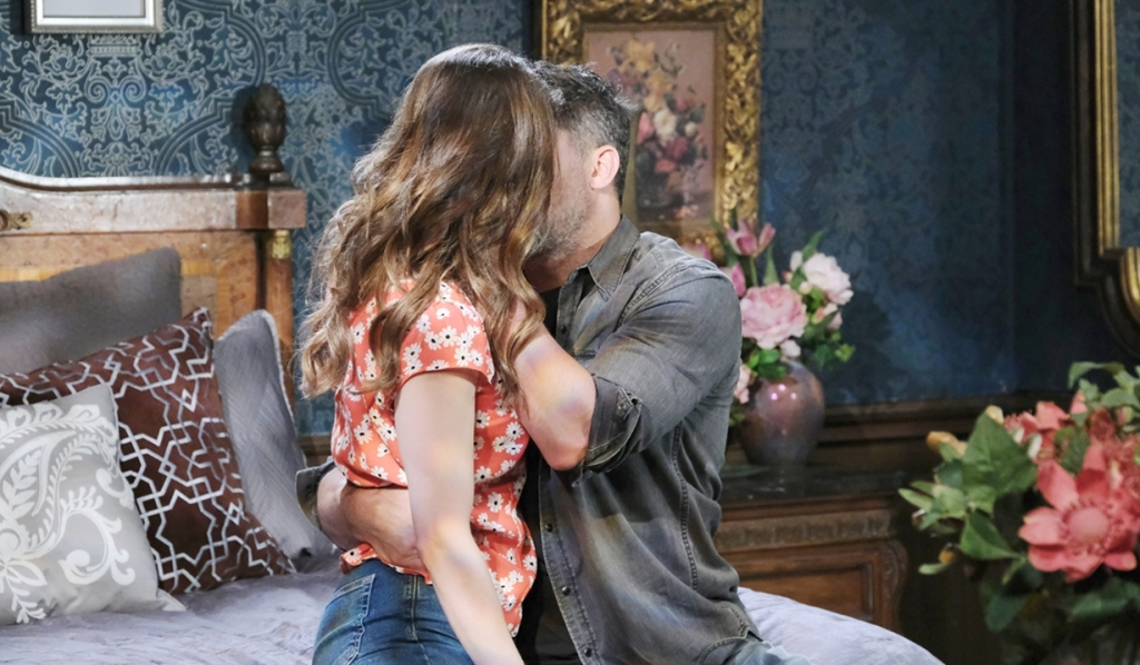 Sarah and Eric kiss Day of our Lives