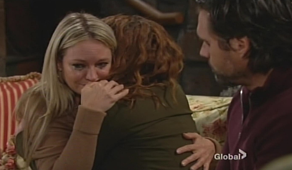 Sharon embraces Mariah with Nick Young and Restless