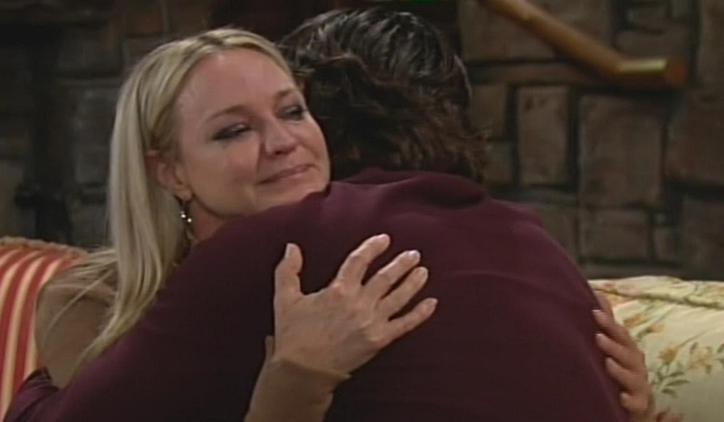 Sharon Nick embrace Young and Restless