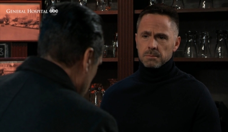 Sonny questions Julian at Charlie's General Hospital