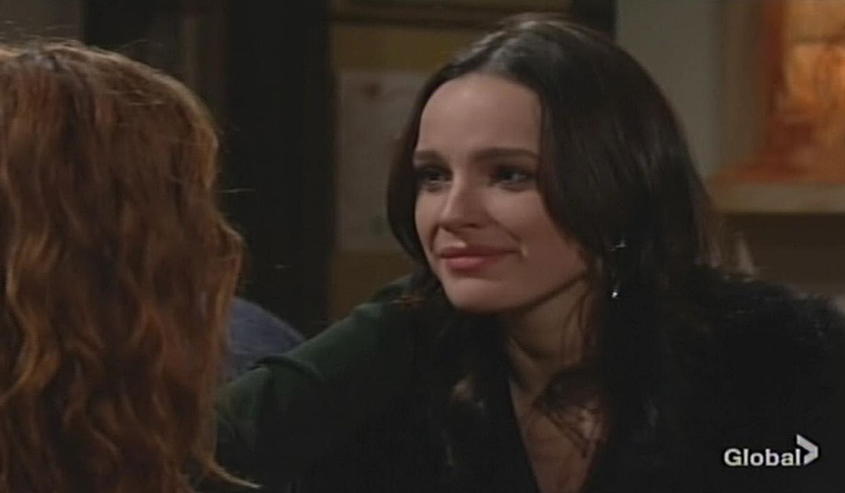 Tessa smiles at Mariah Young and Restless