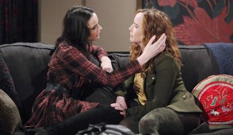 Tessa visits Mariah Young and Restless