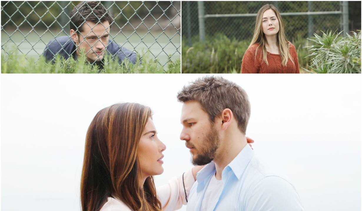 Thomas, Hope, Liam and Steffy collage Bold and Beautiful