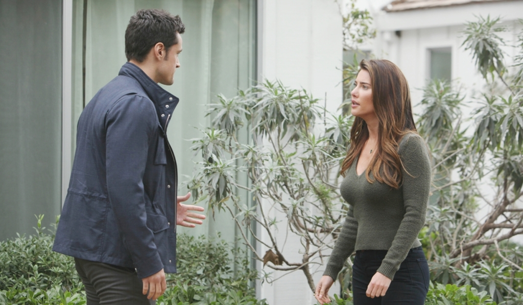 Thomas and Steffy argue Bold and Beautiful