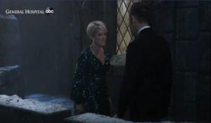 Valentin threatens Ava on the turret General Hospital