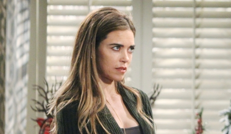 Victoria looks at Billy Young and Restless
