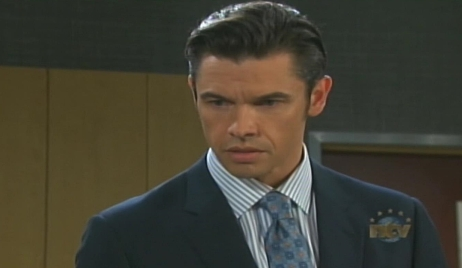 Xander looks at Victor Days of our Lives