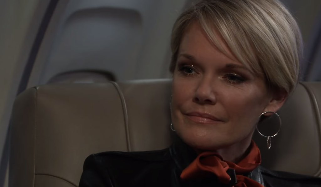 Ava and Nik travel on a plane on General Hospital