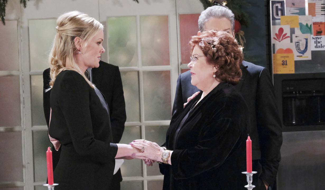 Belle offers her condolences to Nancy on Last Blast Reunion