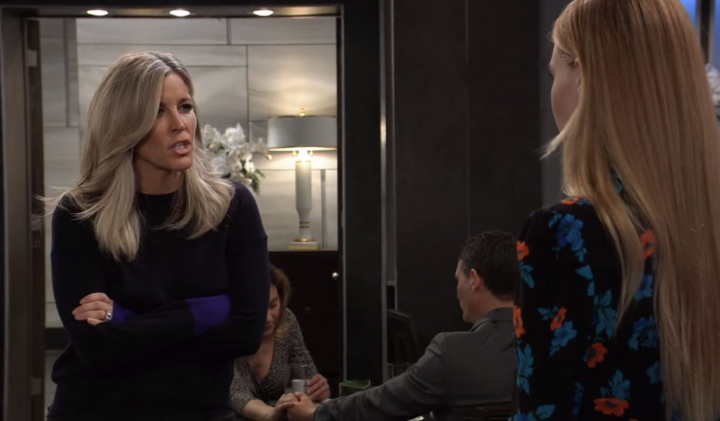 Carly threatens Nelle on General Hospital