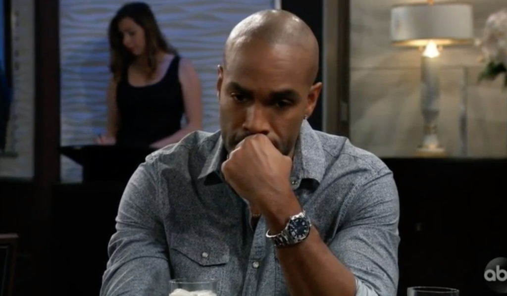 Curtis contemplates at Metro Court on General Hospital